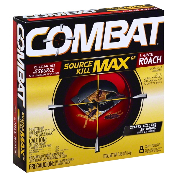 Combat® Max™ Large Roaches Roach Killing Bait Stations 8 ct Box