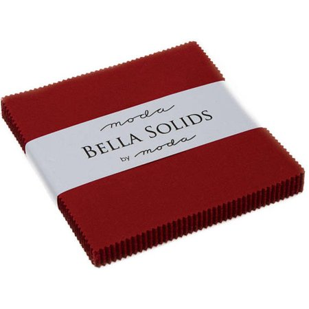 Bella Solids Country Red Moda Charm Pack; 42 - 5
