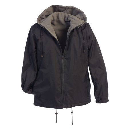 Gioberti Men's Reversible Jacket with Polar Fleece