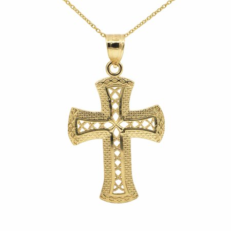 14k yellow gold cross pendant necklace with 20 chain walmart aloadofball Gallery