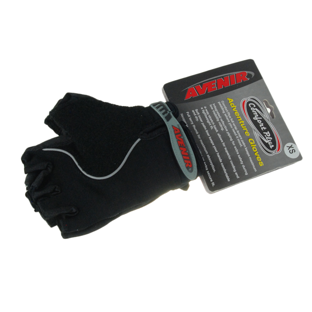 Avenir Adventure Comfort Cycling Gloves XS Black