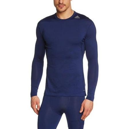Adidas Men's Techfit Base Layer Long Sleeve Tee, Color (Adidas Ncaa Long Sleeve Shirt)