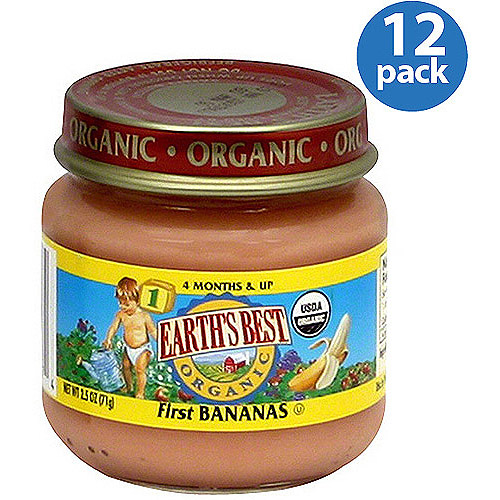 Earth's Best Stage 1 First Baby Food, 2.5 oz (Pack of 12)