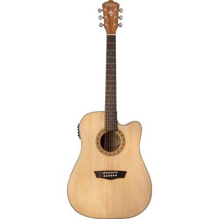 Washburn Signature Guitar (Washburn WD7SCE Harvest Series Solid Sitka Spruce/Mahogany Dreadnought Cutaway Acoustic-Electric Guitar - Natural Gloss )
