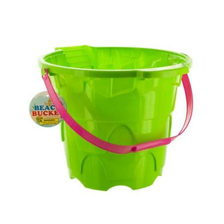 Kole Imports OT017-10 Large Castle Shape Beach Plastic Bucket, 10 Piece