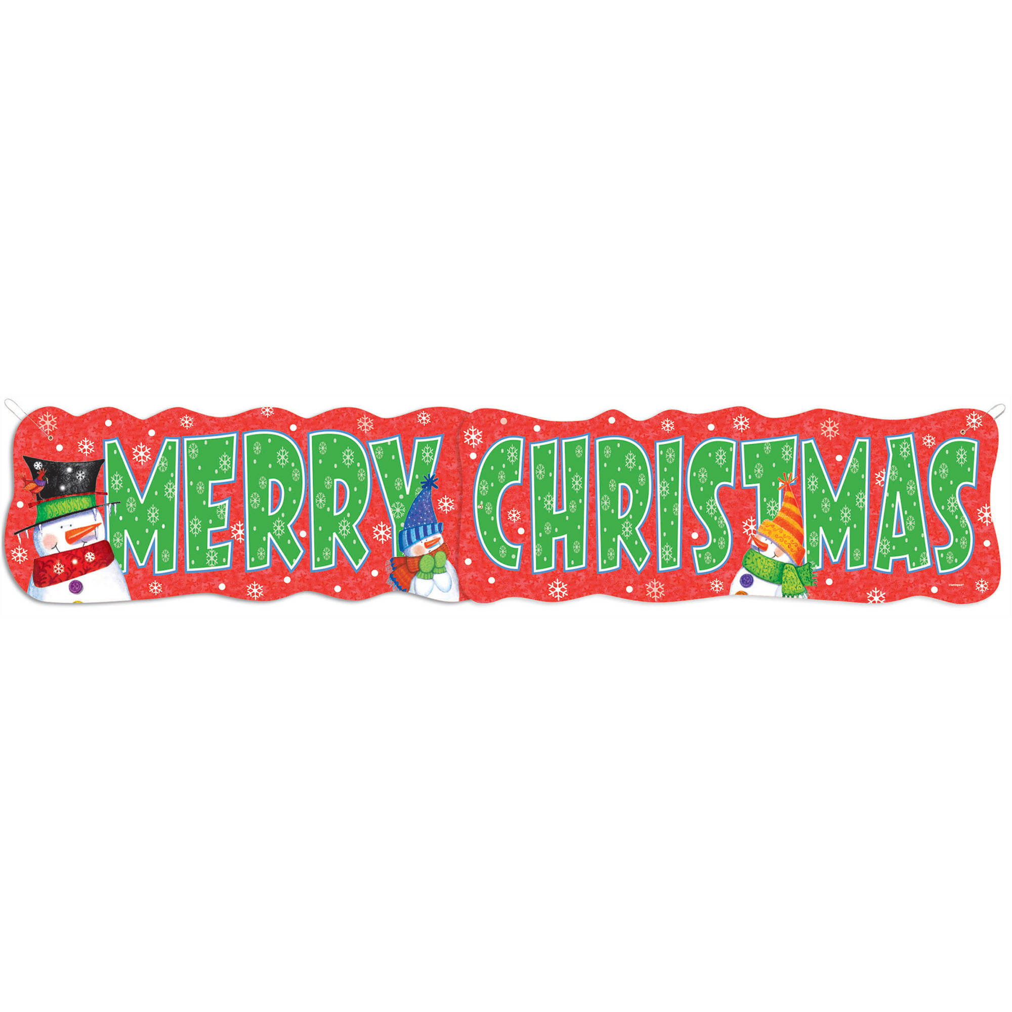 Snowman Buddies Merry Christmas Jointed Banner