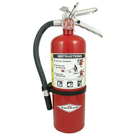 Amerex B500, 5lb ABC Dry Chemical Class A B C Fire Extinguisher with arrow sign](Fire Extinguisher Squirt Gun)