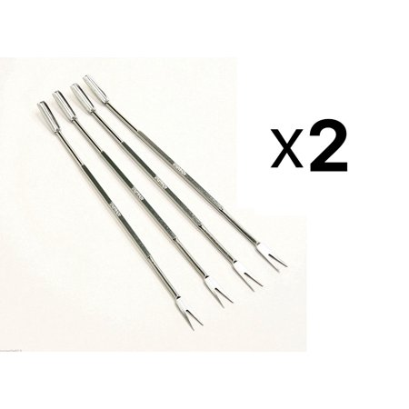 801 Stainless Steel Seafood Forks/Picks, Silver, Set of 8, These picks efficiently remove bits of meat from the shells. By (Sterling Cold Meat Fork)