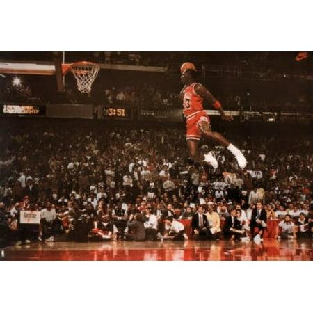 pretty nice 46937 590cf Michael Jordan Slam Dunk Poster Poster Print - Walmart.com