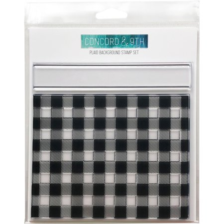 """Concord & 9th Clear Stamps 6""""X6""""-Plaid Background"""
