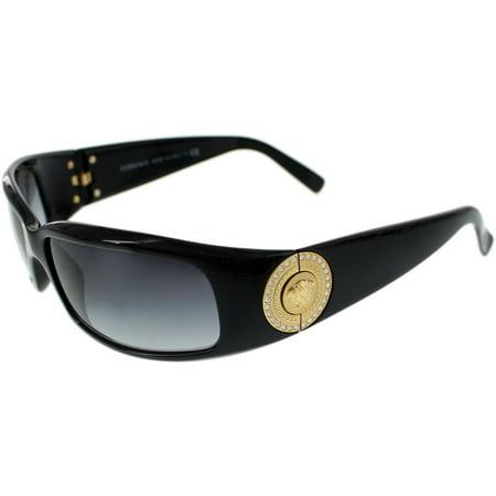 1115197f5c2888 Versace - Women's Gradient VE4044B-870/8G-60 Black Rectangle Sunglasses -  Walmart.com