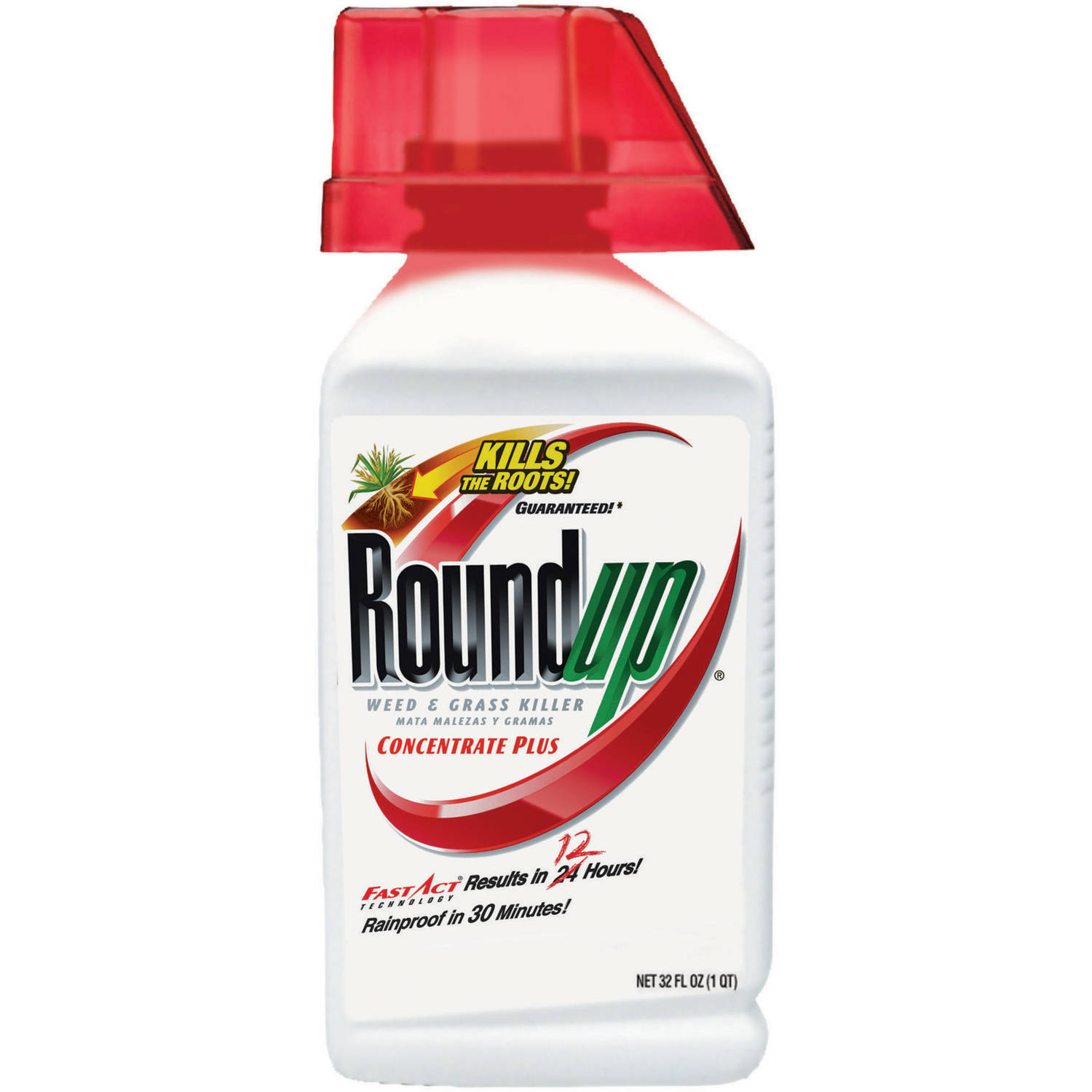 Roundup Weed & Grass Killer Concentrate Plus, 32 oz