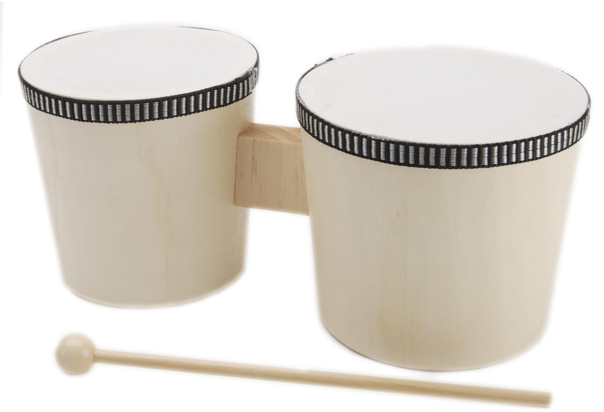 Instrument Wood Bongos With Sticks Natural by Darice