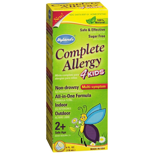 Hylands Homeopathic Complete Allergy 4 Kids Multi-Symptom Liquid, 4 Oz