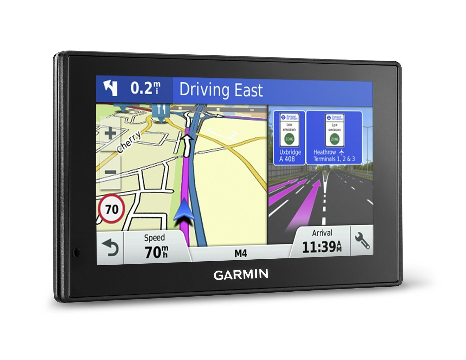 Garmin DriveSmart 60LM Satnav GPS Western Europe Maps Lifetime Maps 6-inch Display Traffic by Garmin