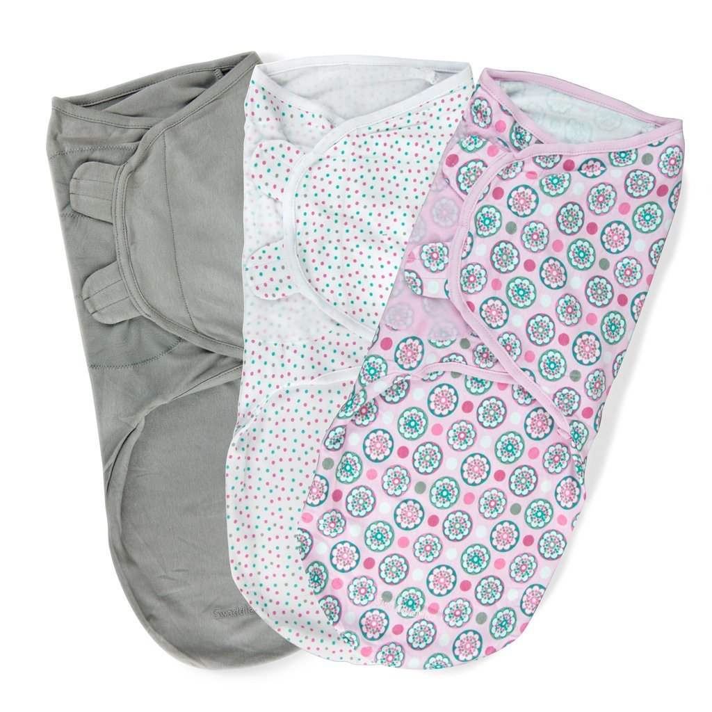 Summer Infant SwaddleMe Cotton Knit Large 3-Pack - Geo Floral