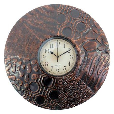 Screen Gems Round Textured Metal Wall Clock WD-050