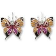 Zarah 32-04-Z1 Daggerwing Butterfly Ultrafine Silver Plate Earrings