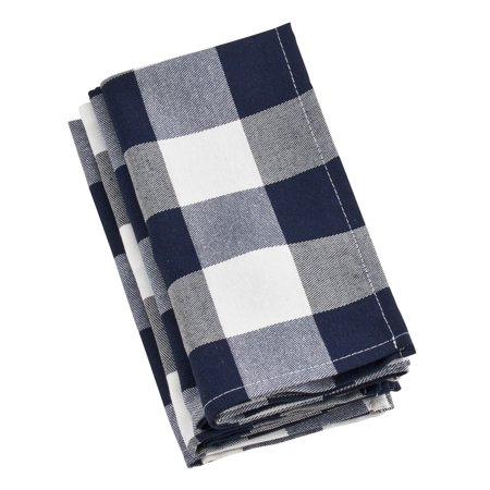 Saro Lifestyle Buffalo Plaid Check Pattern Design Cotton Napkins (Set of - Plaid Napkins
