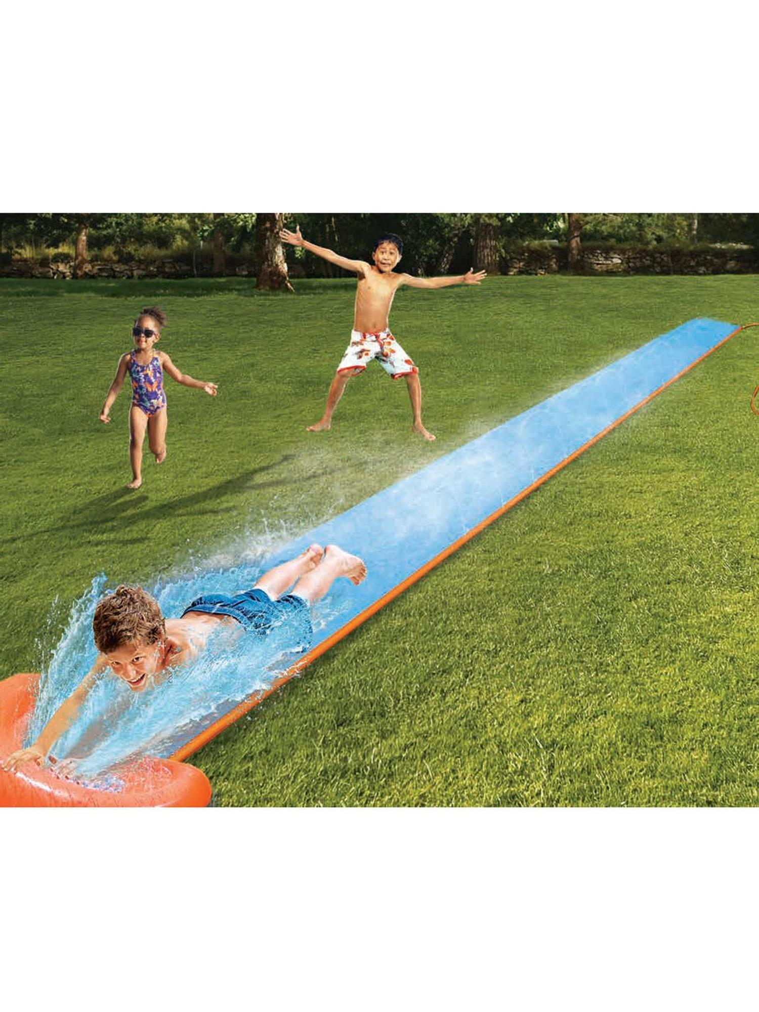 Children Kids Inflable 18ft Single Double Waterslide with Drench Pool for 1 or 2 Person ROJE by