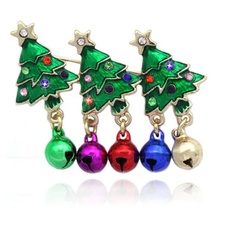 cocojewelry Christmas Tree Colorful Jingle Bells Pin Brooch Holiday Jewelry](Mockingjay Pin Jewelry)