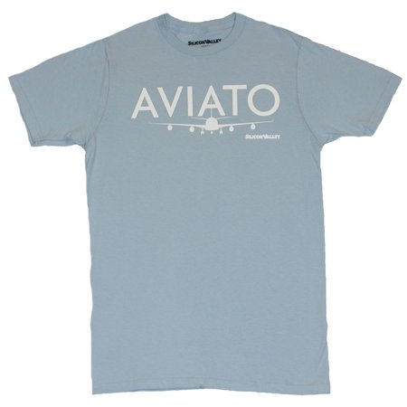 Silicon Valley Mens T-Shirt - Aviato Simple Airplane Logo Image](Simple Airplane)