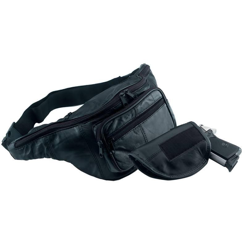 Embassy Solid Genuine Leather Gun Holder Belt Bag