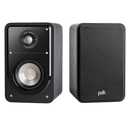 Polk S15 American HiFi Home Theater Compact Bookshelf Speaker (Black)