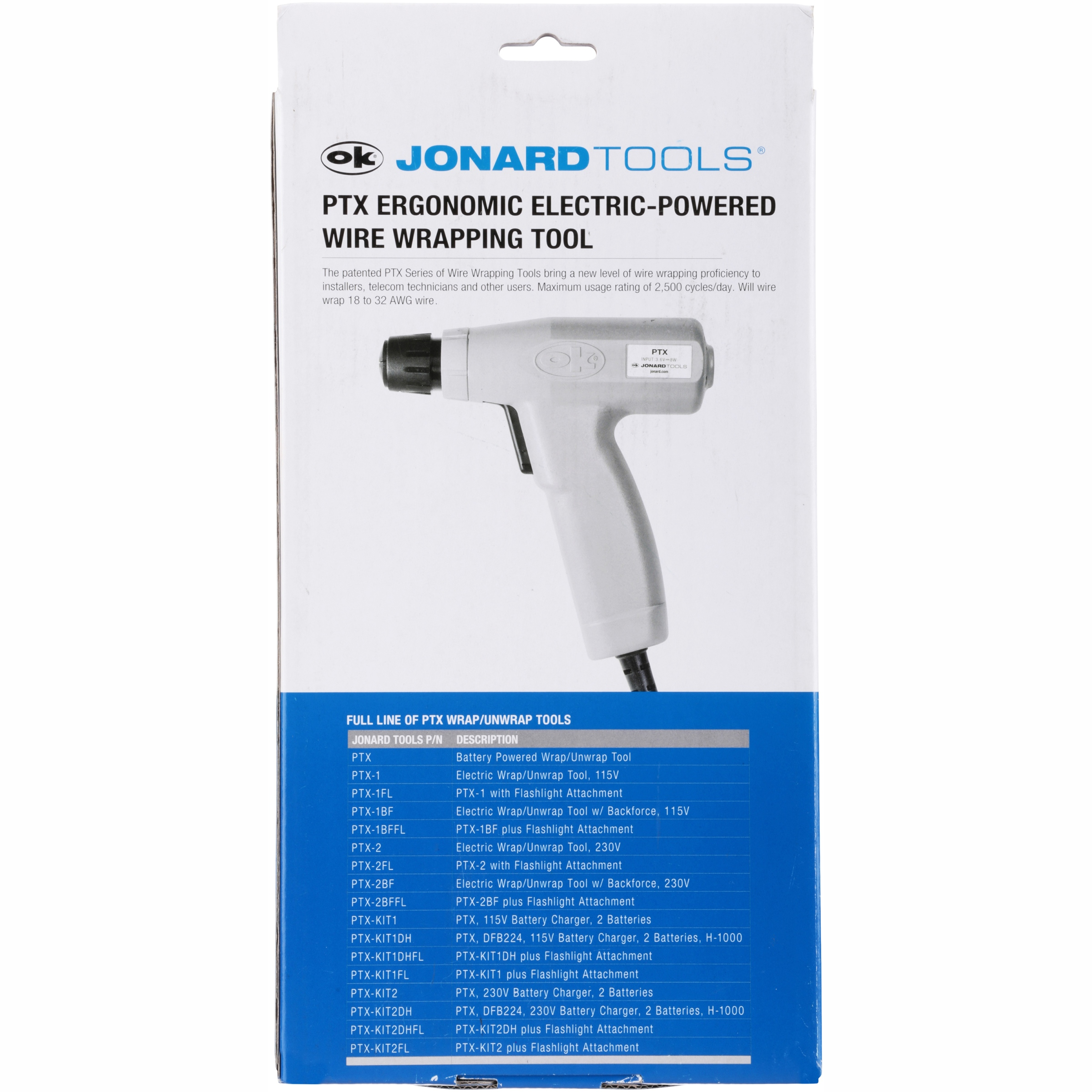 Jonard Tools® PTX Ergonomic Electric-Powered Wire Wrapping Tool ...