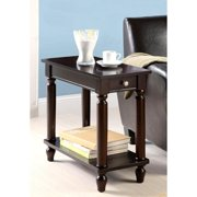 A Line Furniture Casual Design Cappuccino Accent Table with Drawer cappuccino