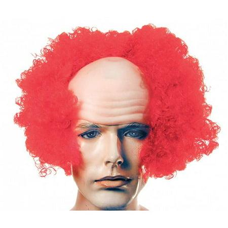 Morris LW527BU Bald Curly Clown Florida Front Wig - Blue - image 1 de 1