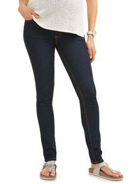 product image full panel super soft skinny maternity jeans available in plus sizes - Maternity Christmas Dress