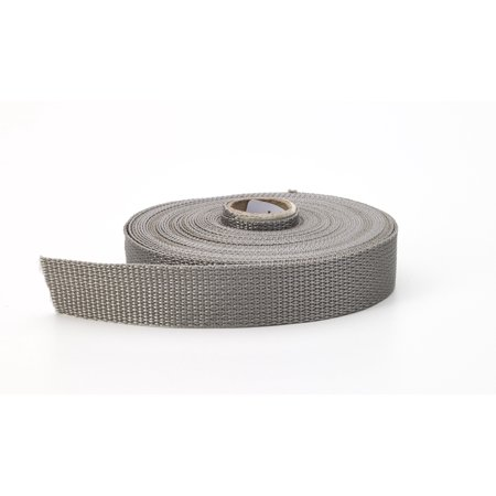"Polypropylene webbing, 2"" Wide, 10 yds, Gray"