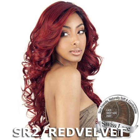Brown Sugar Human Hair Blend Soft Swiss Lace Wig - BS207 (2 Dark