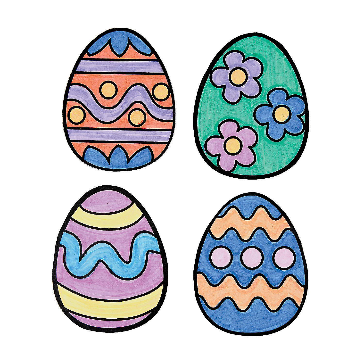 Fun Express - Cyo Easter Egg Magnets for Easter - Craft Kits - CYO - Paper - Stationery - Easter - 12 Pieces