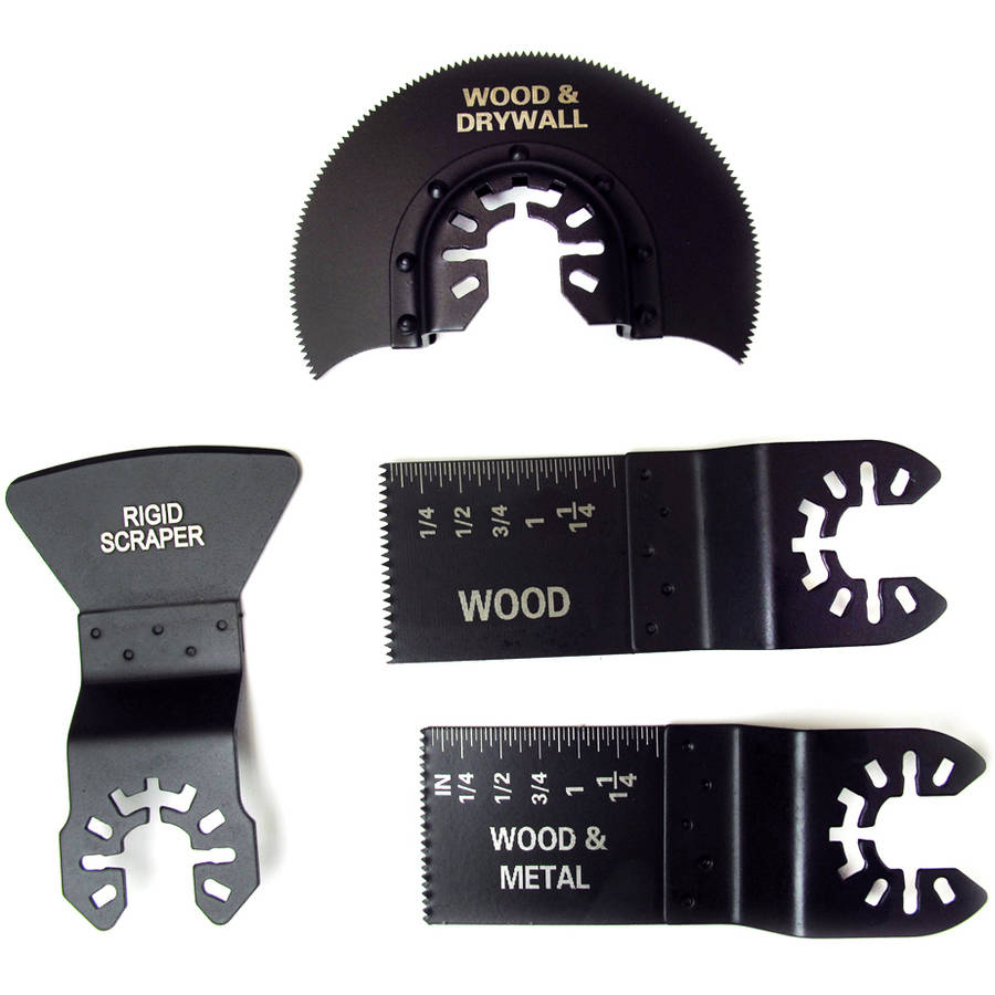 Hyper Tough 4-Piece Wood and Metal Cutting Kit, Black