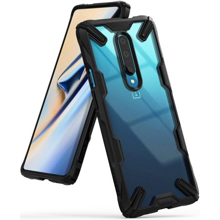Oneplus 7 Pro Case, Ringke [FUSION-X] [Black] Ergonomic Transparent Mil Grade Drop Protection Impact Resistant TPU Rugged Cover for Oneplus 7 Pro ()