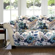 Floral Paisley Furniture Protectors, Blue