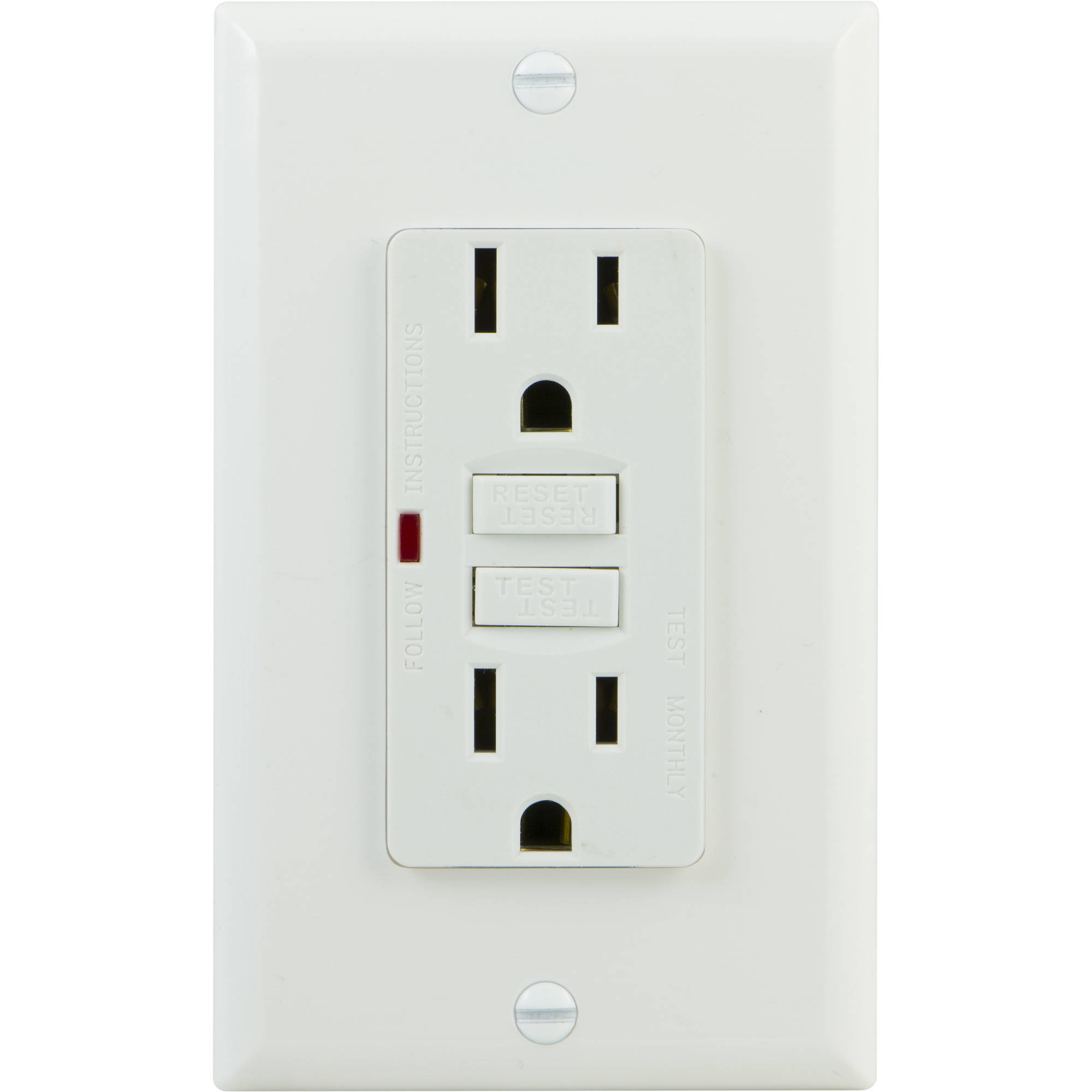 GE 15A Self Test GFCI Outlet, White, 32073 by Jasco Products