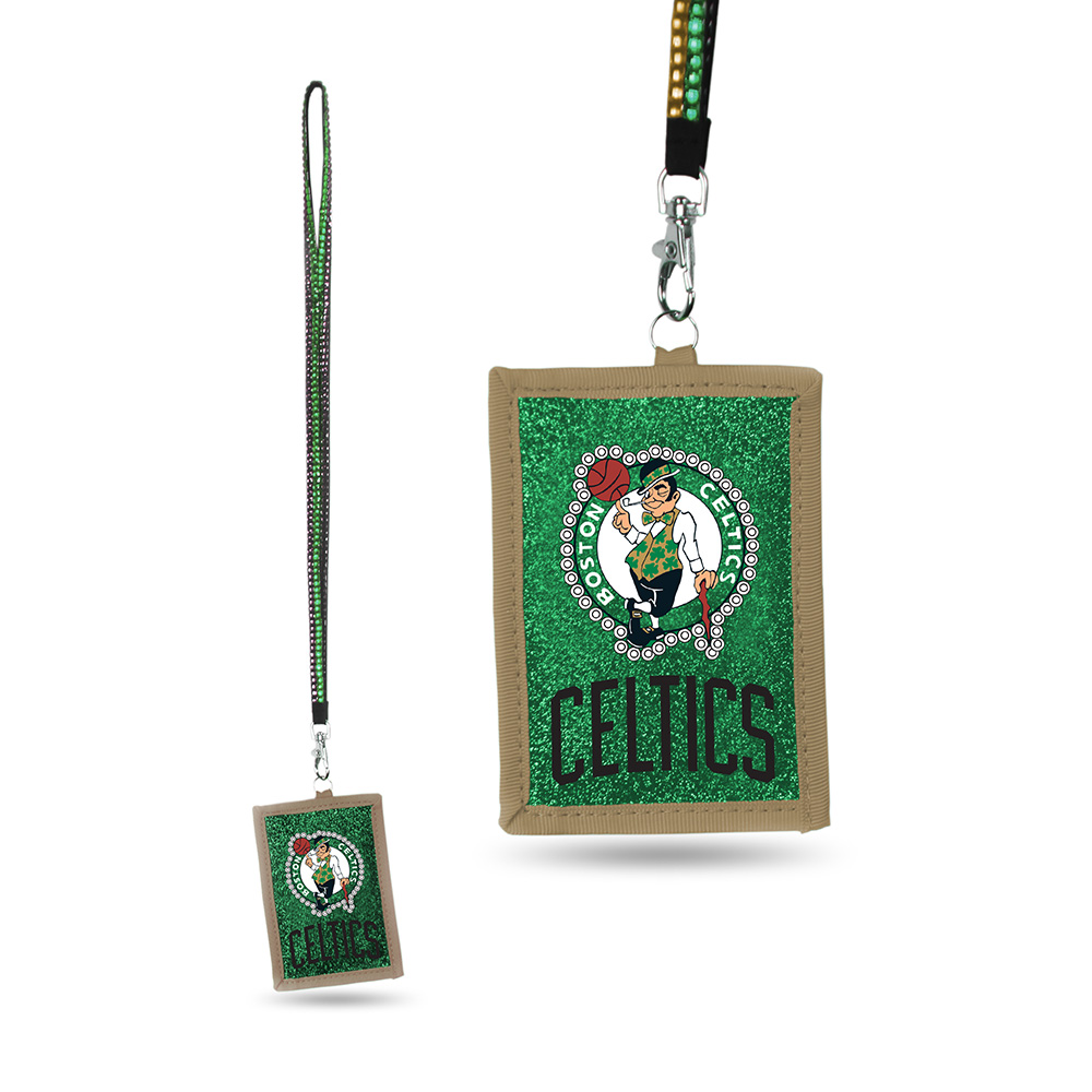 Boston Celtics NBA Lanyard with Nylon Wallet