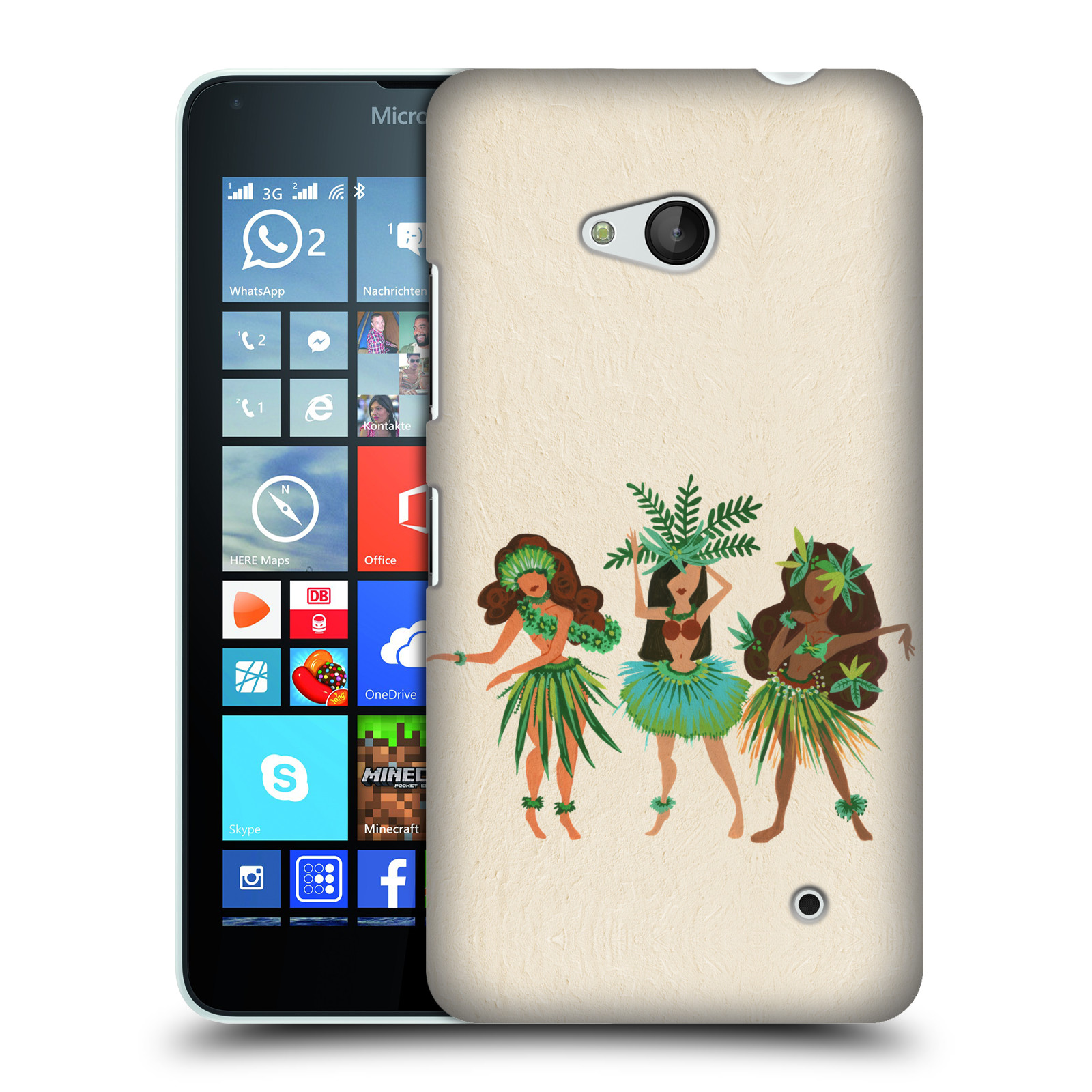 OFFICIAL CAT COQUILLETTE WATERCOLOUR HARD BACK CASE FOR MICROSOFT PHONES