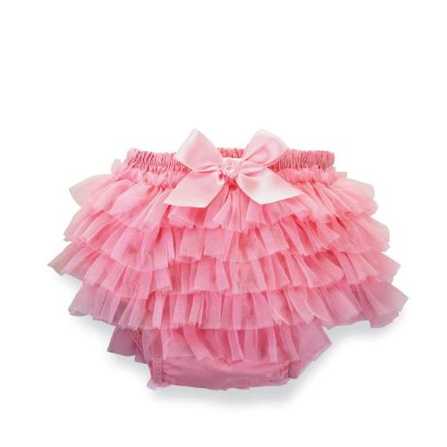 Mud Pie Baby-Girls Newborn Pretty In Pink Chiffon Bloomers, Pink, 12-18 Months