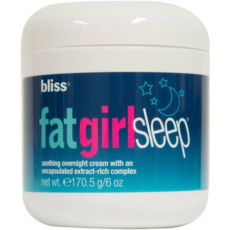 Bliss Fat Girl Sleep Soothing Overnight Cream  6 Oz
