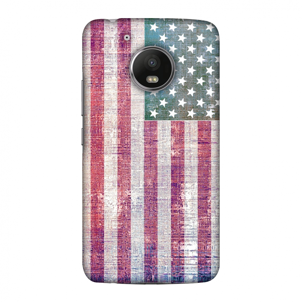 Motorola Moto G5 Case - USA flag- Wood texture, Hard Plastic Back Cover, Slim Profile Cute Printed Designer Snap on Case with Screen Cleaning Kit