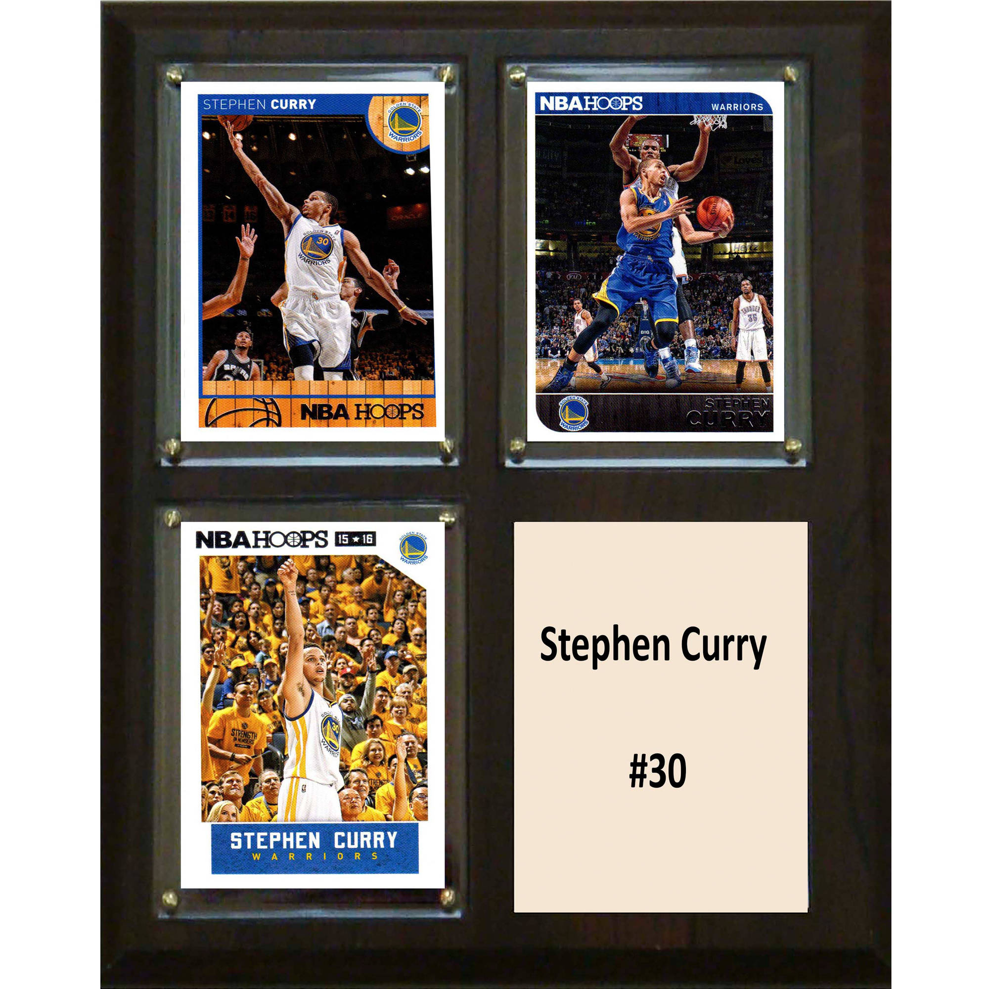 C&I Collectables NBA 8x10 Stephen Curry Golden State Warriors 3-Card Plaque