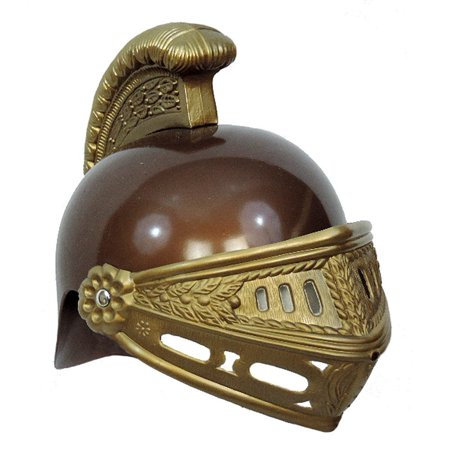 Kid's Gold Brown Plastic Roman Trojan Costume Helmet