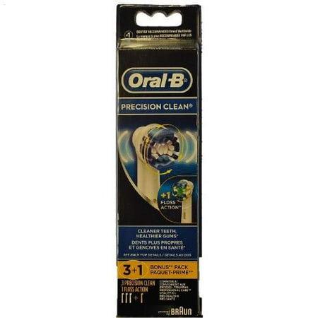 Oral-B Braun Precision Clean Brush Set 3+1 Bonus Pack - Walmart.com cc659ae44a820