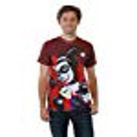 Harley Quinn Sublimated Pistol Tee Shirt Small White](Small Harley)