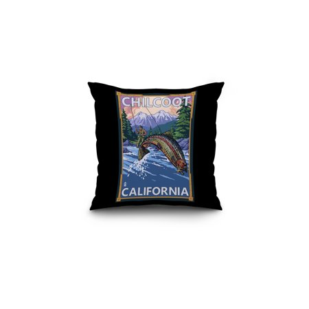 Chilcoot California Angler Fly Fishing Scene Leaping Trout Lantern Pre