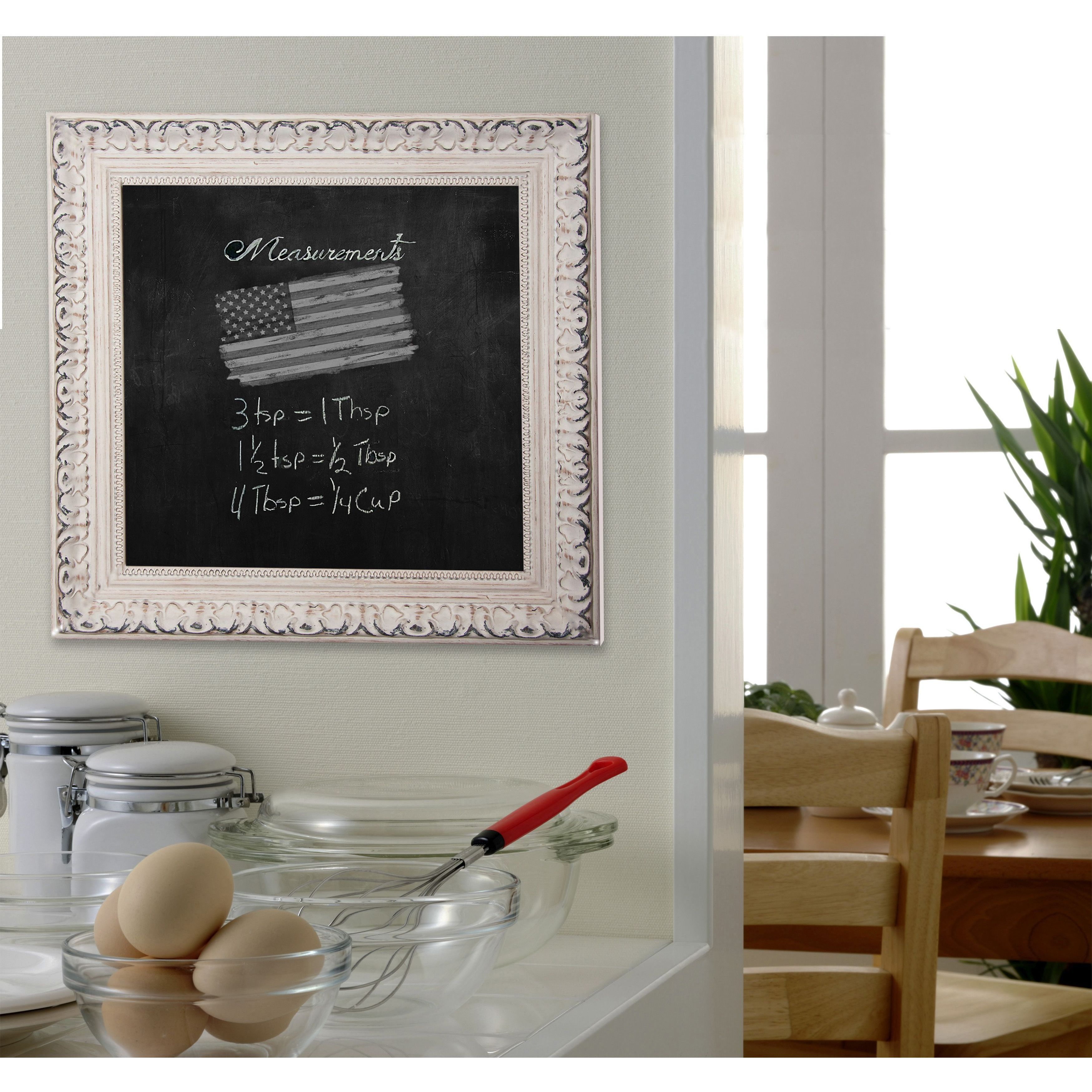 Rayne Mirrors American Made Rayne French Victorian White Blackboard/Chalkboard